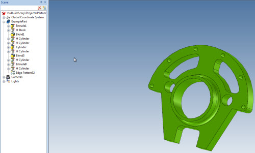 Figure 6: Example IronCAD part with full features