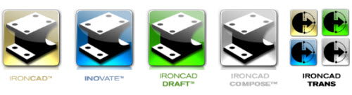 Figure 10: The parts of the IronCAD Design Collaboration Suite