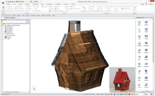 Figure 9: Point cloud used as a reference for a 3D model