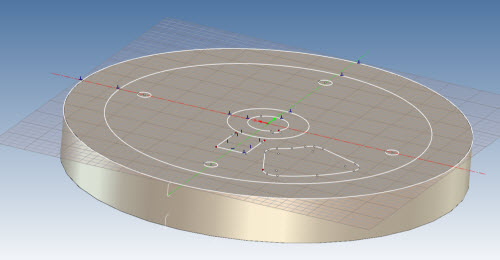Figure 9: Extruding the external diameter geometry