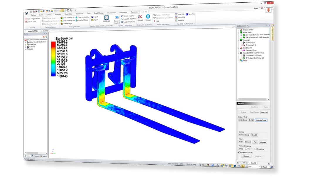 CAD/FEA Multiphysics Simulation Software | IronCAD CAD