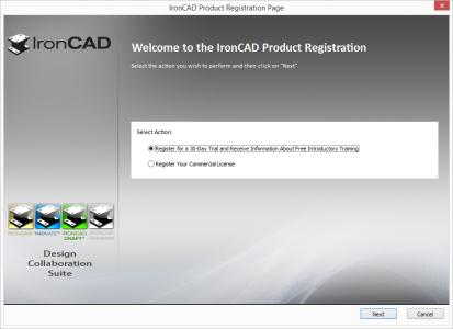 Select Registration Option