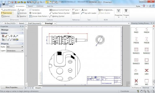 Figure 2: IronCAD's drawing environment