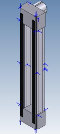 Figure 3: Example of attachment points, shown in blue