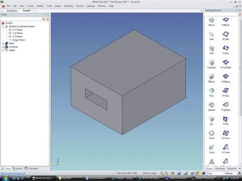 Figure 3: Boss (box) and Cut (slot)