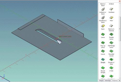 Figure 8: Sheet metal design