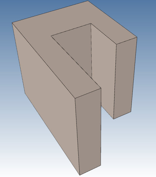 U-shaped block