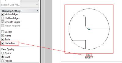 IronCAD Detail View Underline