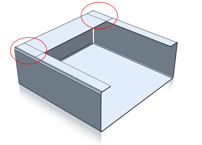 IronCAD Sheet Metal Overlap