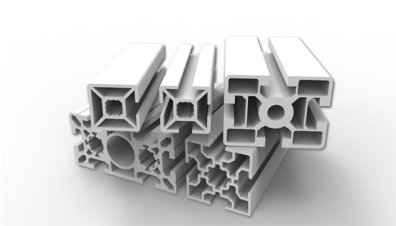 Example of aluminum extrusions for structural design
