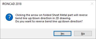 Sheet Metal Direction Change Warning