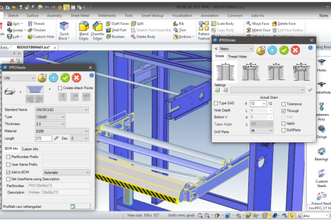 Productivity Tools for Fabricators to Reduce Design Time with IronCAD Mechanical - mechanical