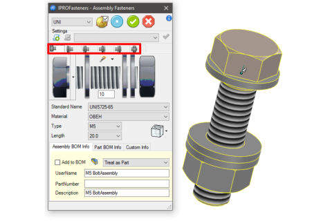 Productivity Tools for Fabricators to Reduce Design Time with IronCAD Mechanical - Fasteners