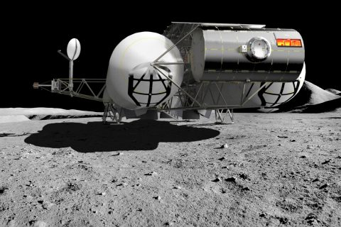 Successfully Producing Spacecraft Concept Designs with IronCAD-Scorpion-on-the-Moon